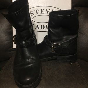 Steve Madden Flair Leather Moto Boots